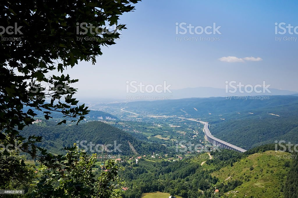 Bolu Mountains in Turkey stock photo