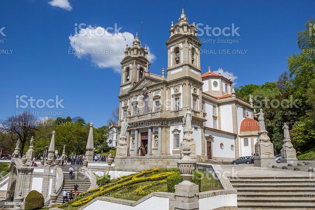 Bom jesus do Monte church in Braga stock photo