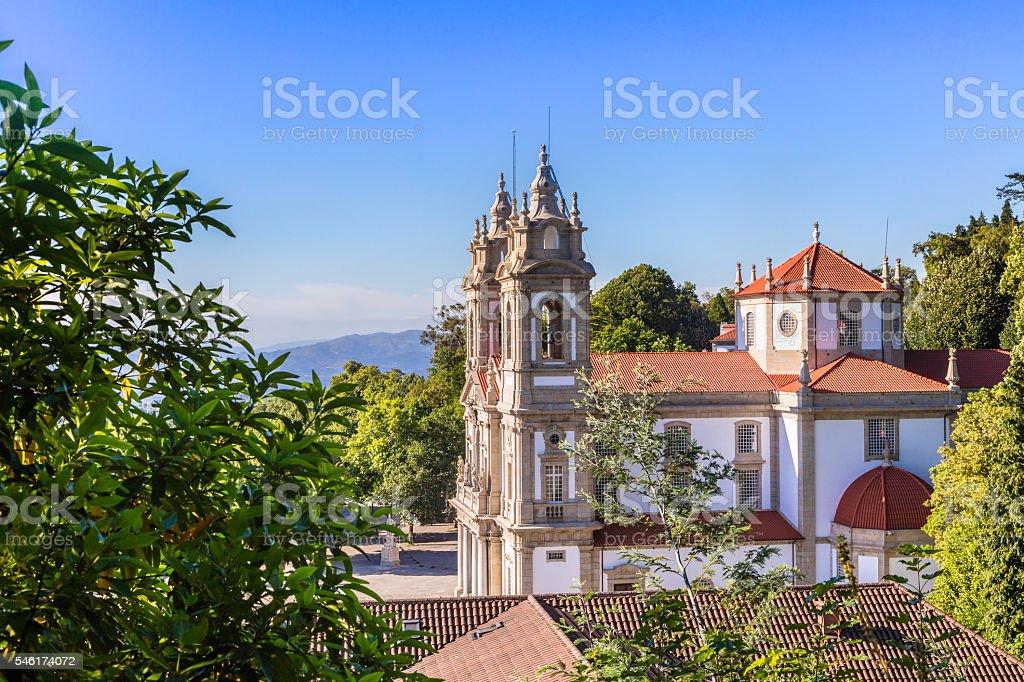 Bom Jesus do Monte church in Braga, Portugal stock photo