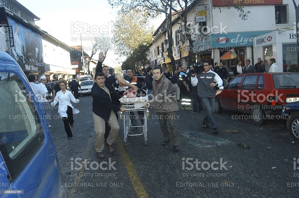 Bomb attack in Istanbul royalty-free stock photo