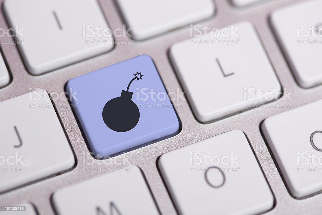 Bomb Concept on Keyboard royalty-free stock photo