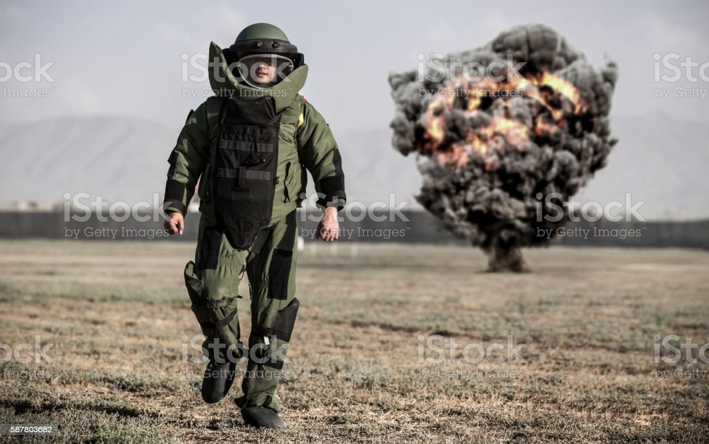 Bomb Disposal stock photo