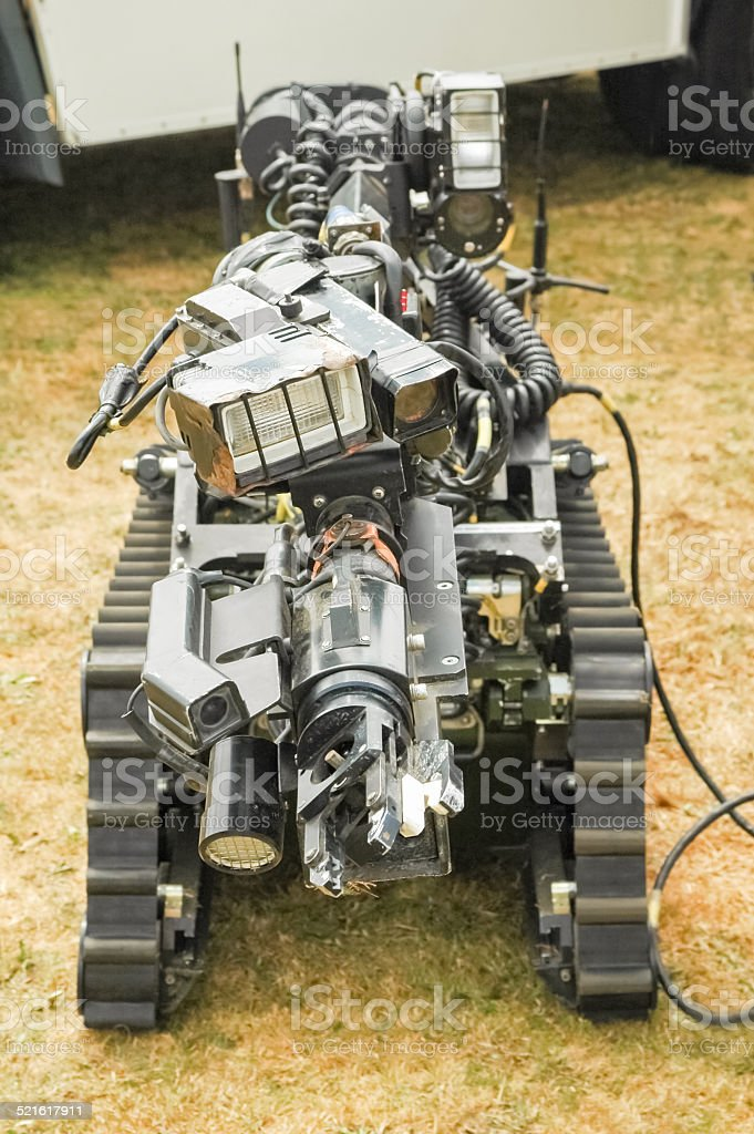 bomb disposal robot stock photo