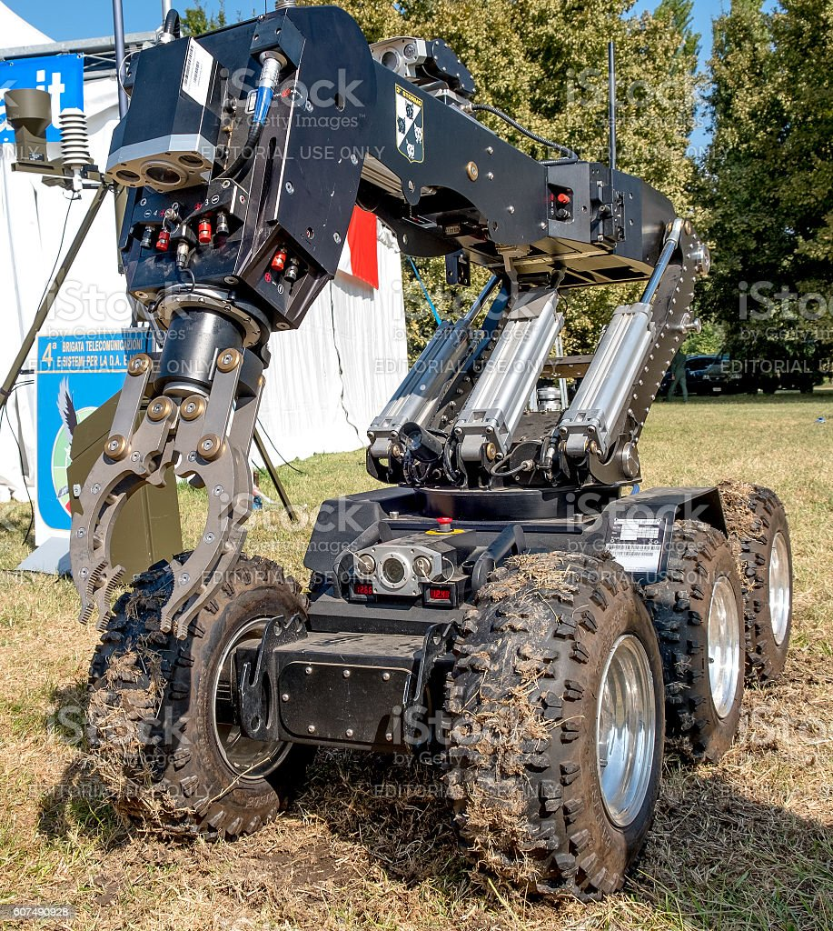 bomb disposal robot unit stock photo