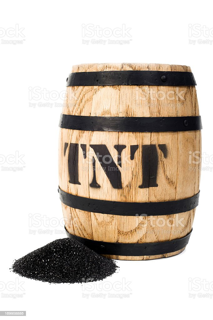 Bomb - Explosive Keg stock photo