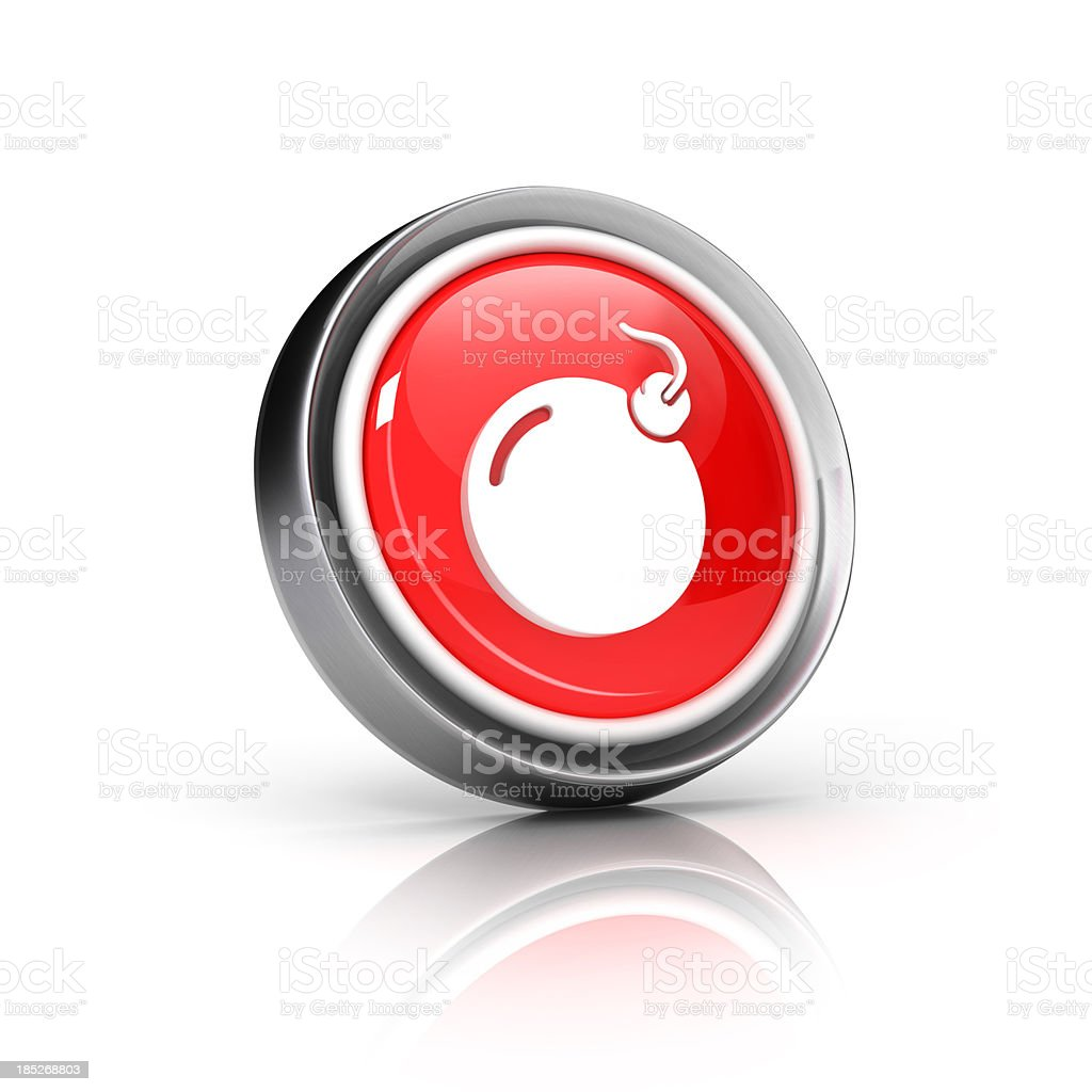 bomb icon royalty-free stock photo