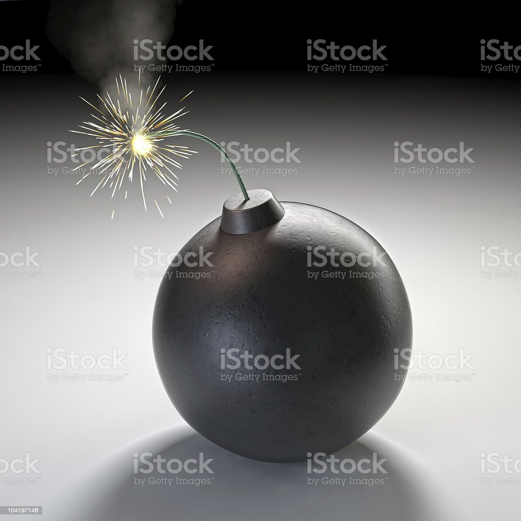 bomb on white royalty-free stock photo