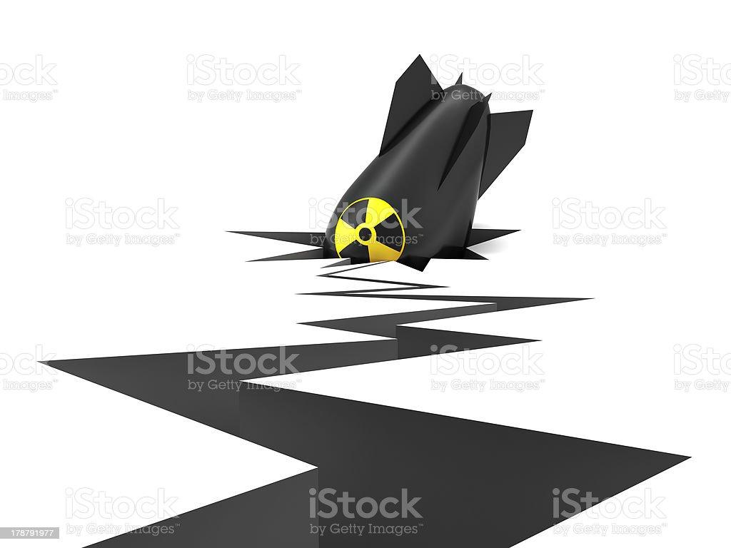 Bomb royalty-free stock photo