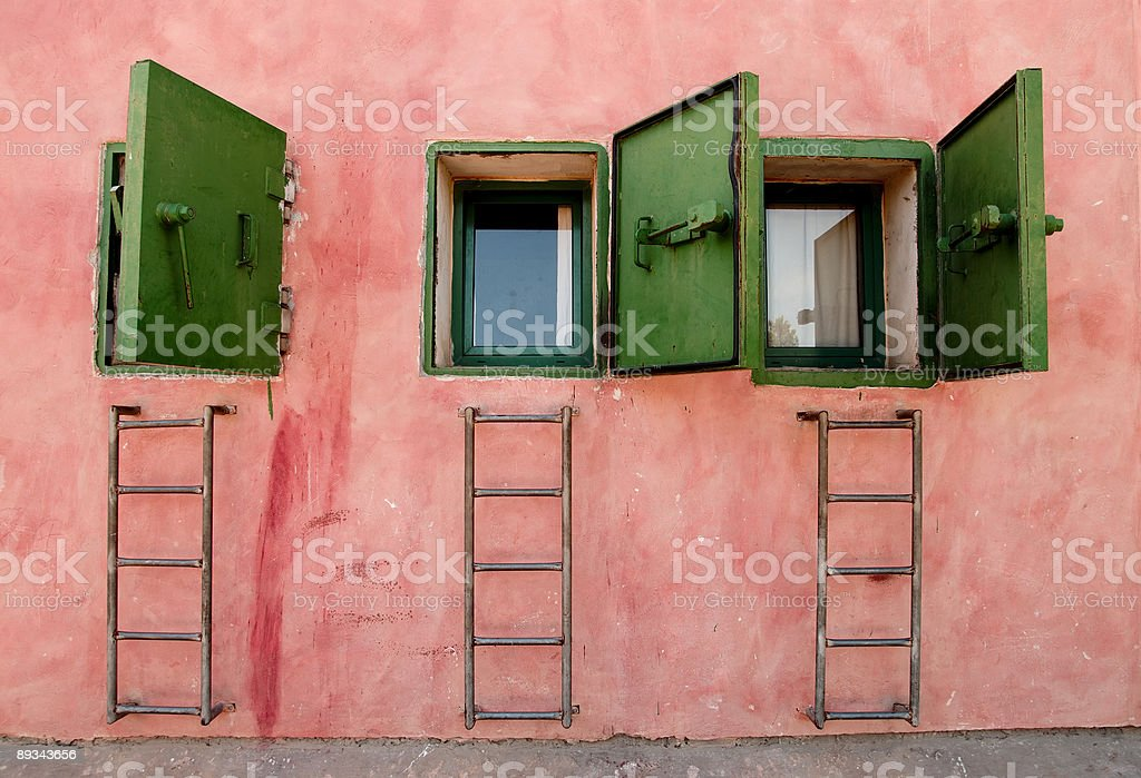 Bomb Shelter Doors stock photo