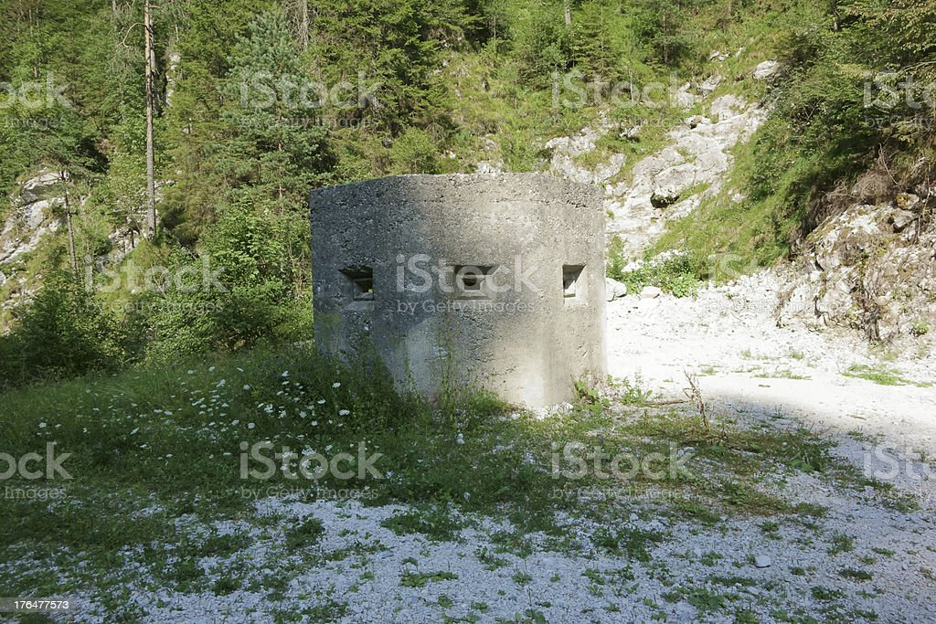 Bomb shelter royalty-free stock photo