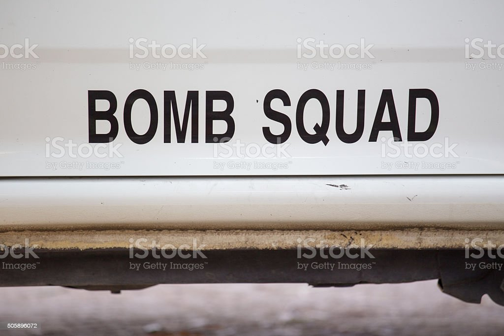 bomb squad stock photo