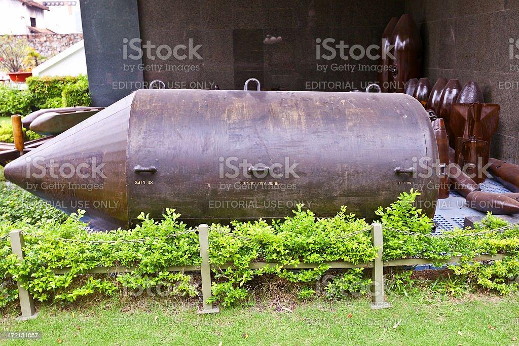 USA BLU-82B bomb. War Remnants Museum, Ho Chi Minh stock photo