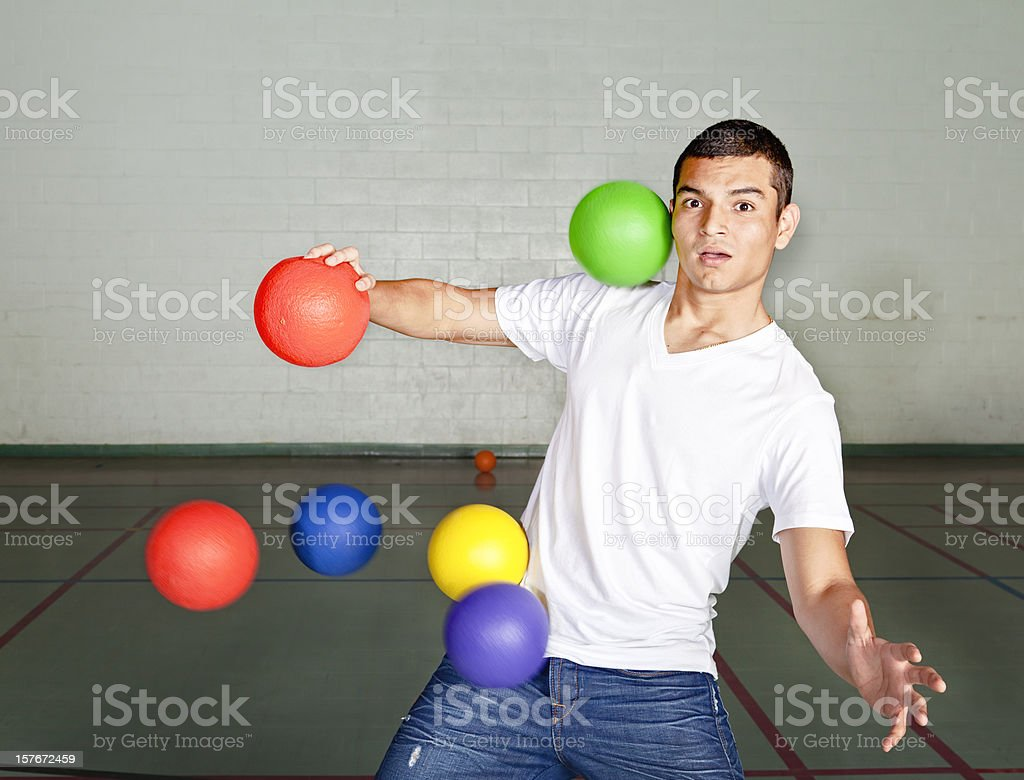 Bombarded stock photo