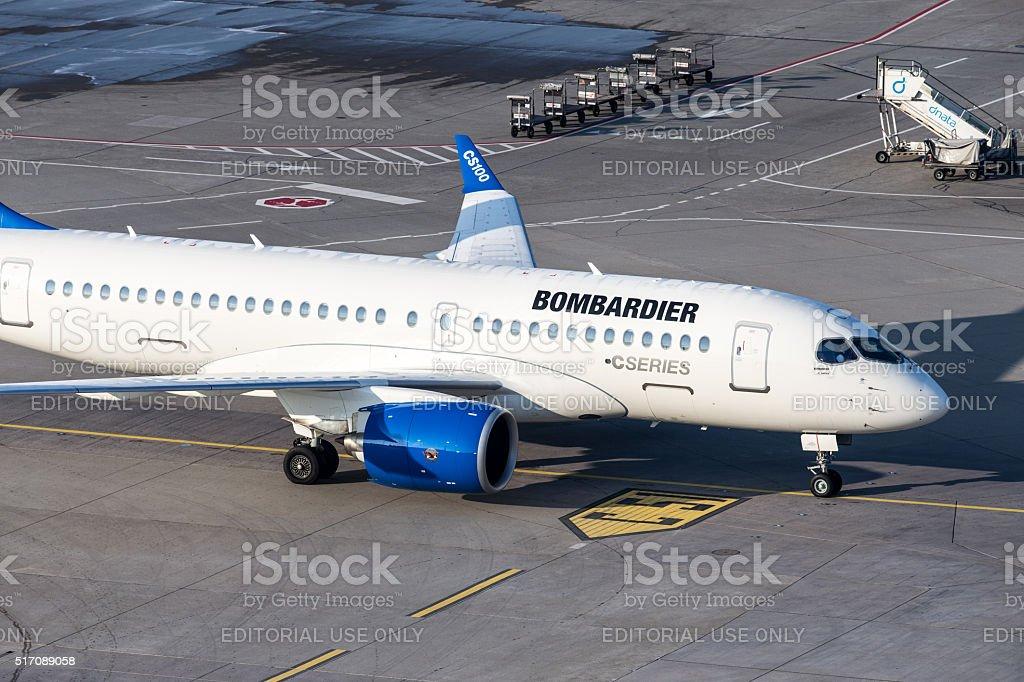 Bombardier CSeries stock photo