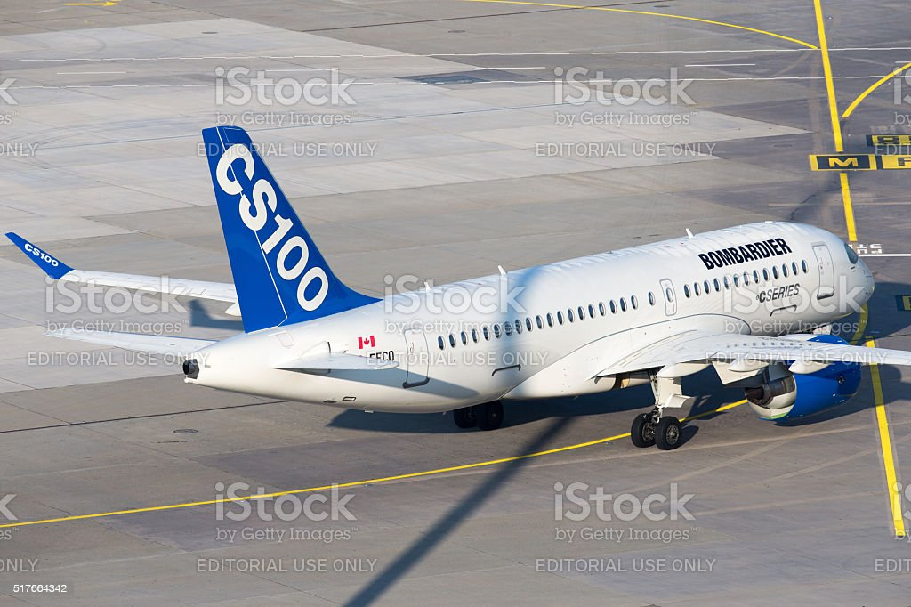 Bombardier CSeries stock photo