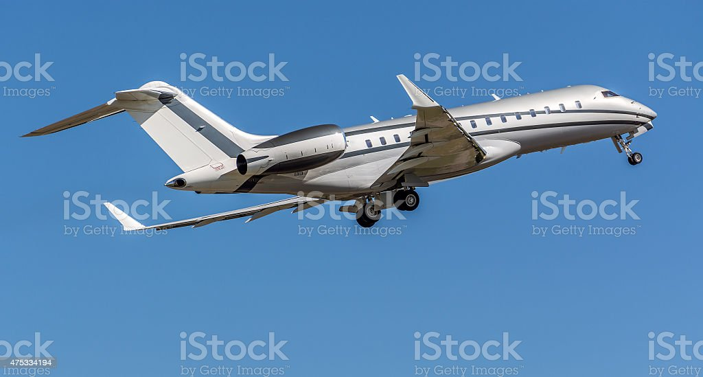 Bombardier Global 6000 private aircraft stock photo
