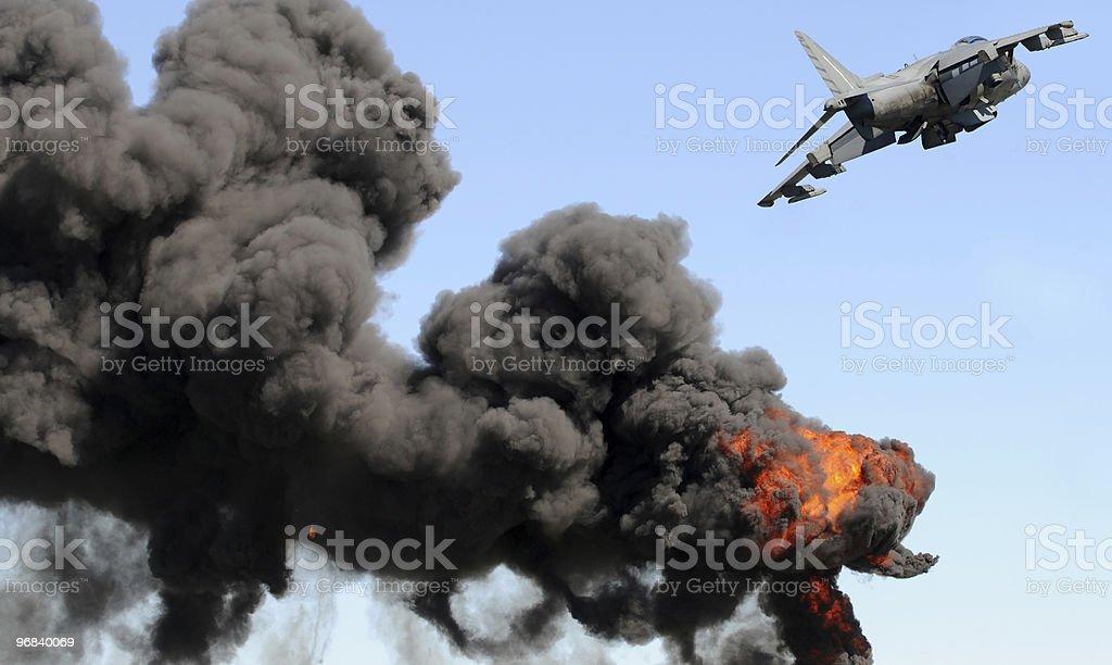 Bombardment royalty-free stock photo