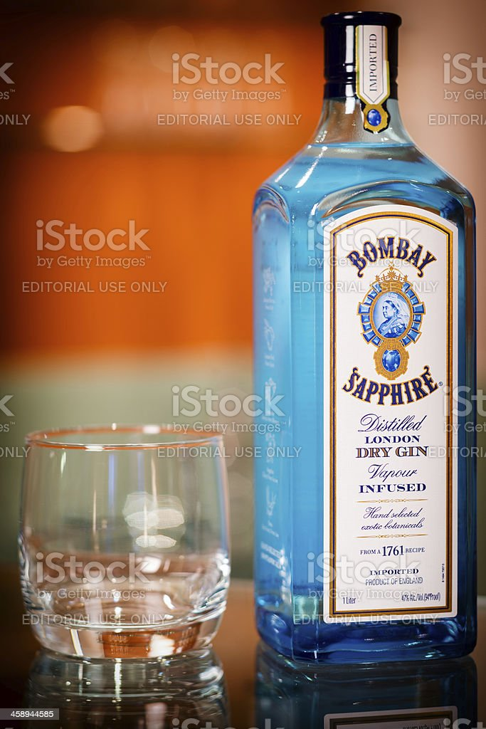 Bombay Sapphire Gin. stock photo