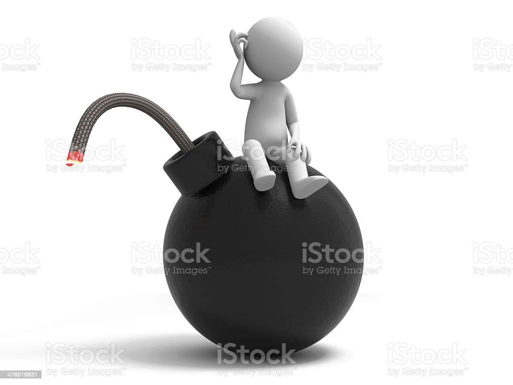 Bomb,Crisis royalty-free stock photo