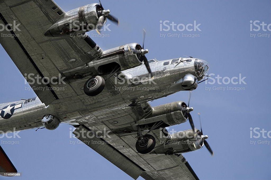 B-17  Bomber aircraft royalty-free stock photo