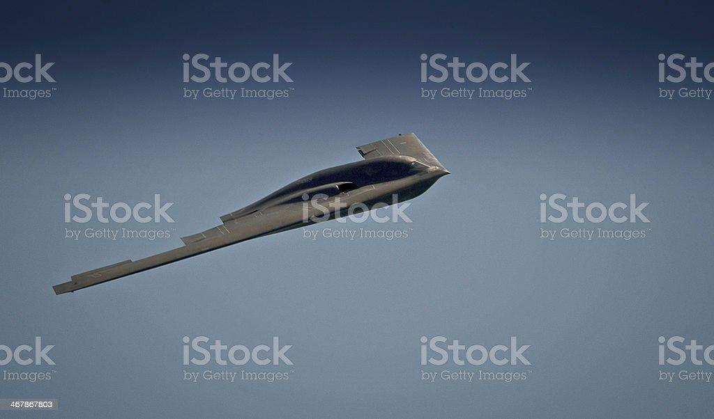 B2 Bomber At Seymour Johnson Air Force Base stock photo