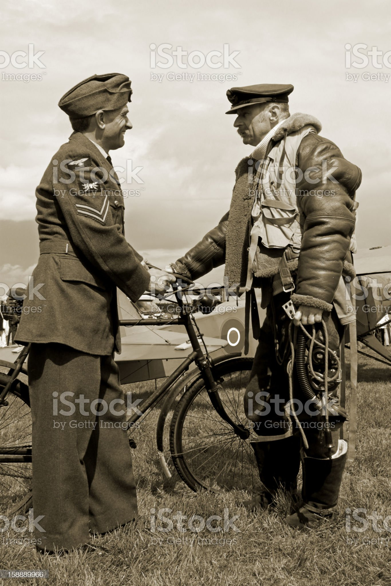WW2 Bomber Boys. royalty-free stock photo