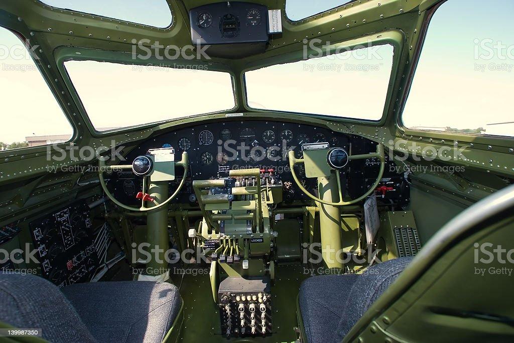 B-17G Bomber Cockpit stock photo