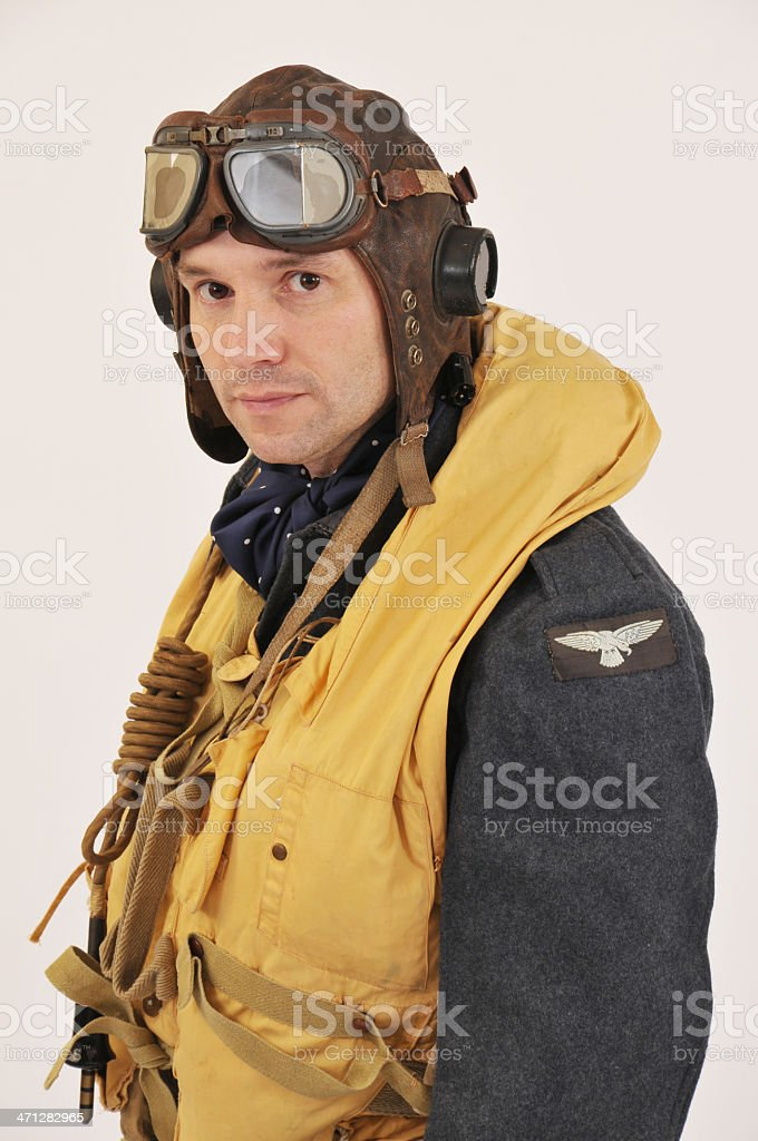 WW2 RAF Bomber Command Aircrew Member stock photo