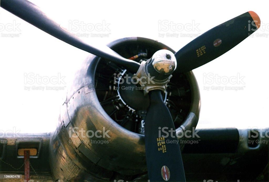B-17 WWII bomber engine royalty-free stock photo
