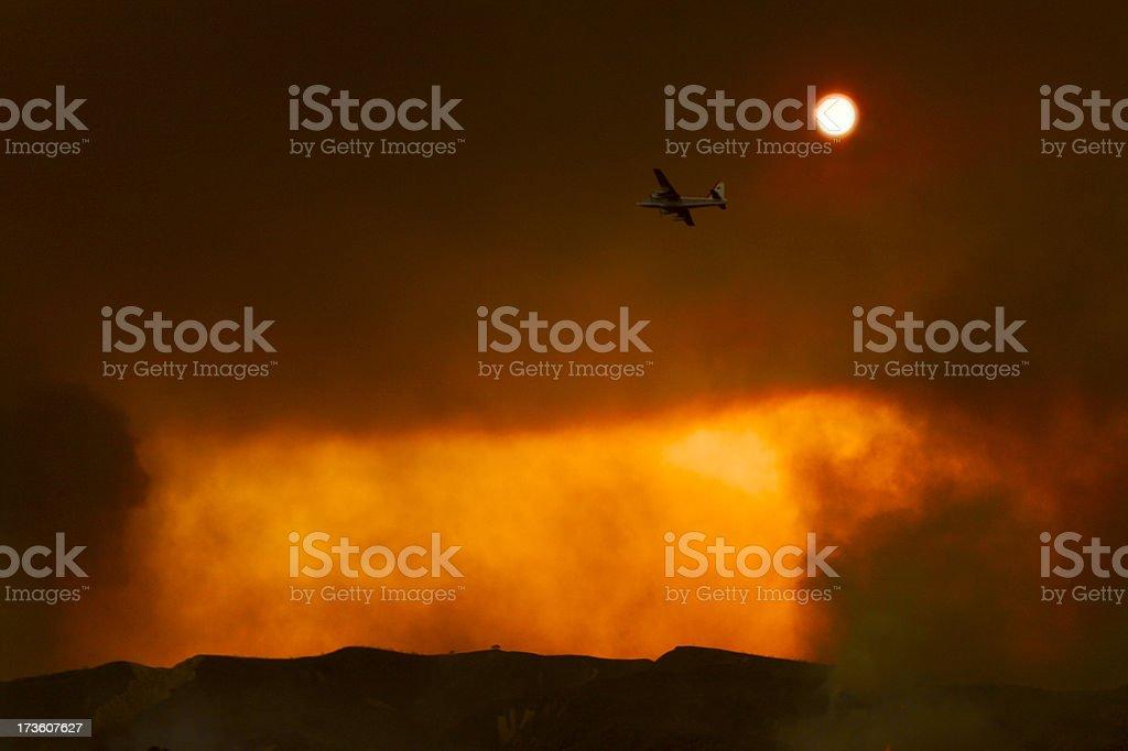 Bomber mission stock photo
