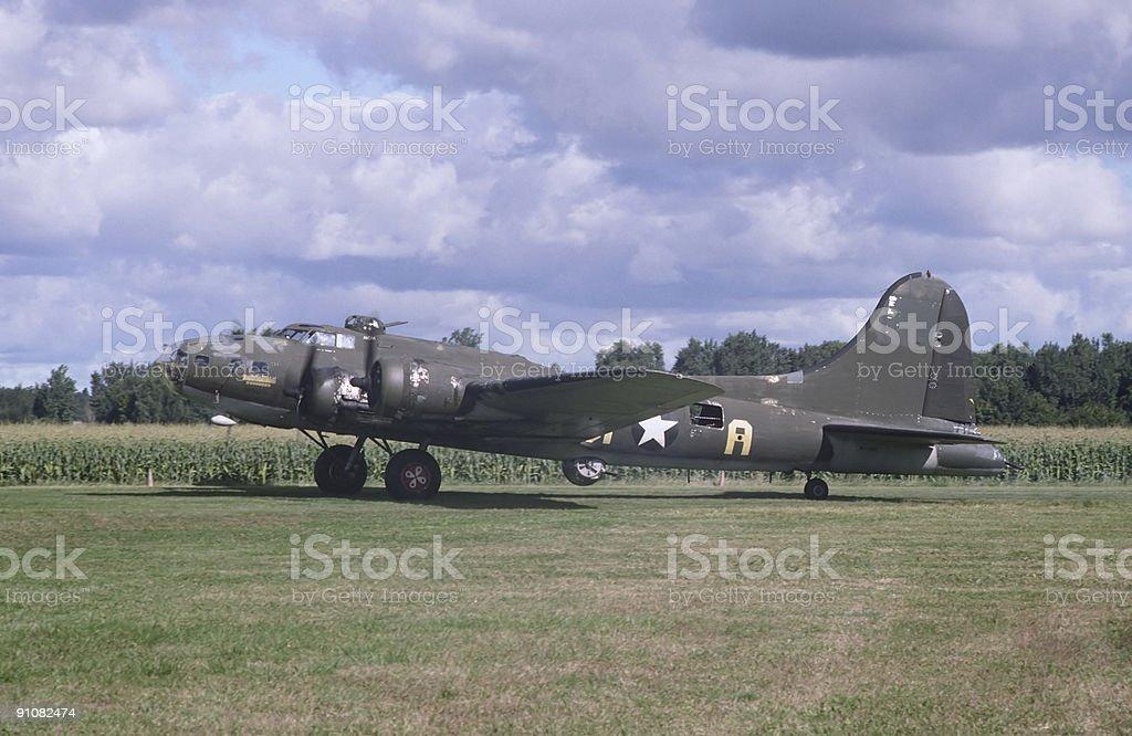 B-17 Bomber royalty-free stock photo
