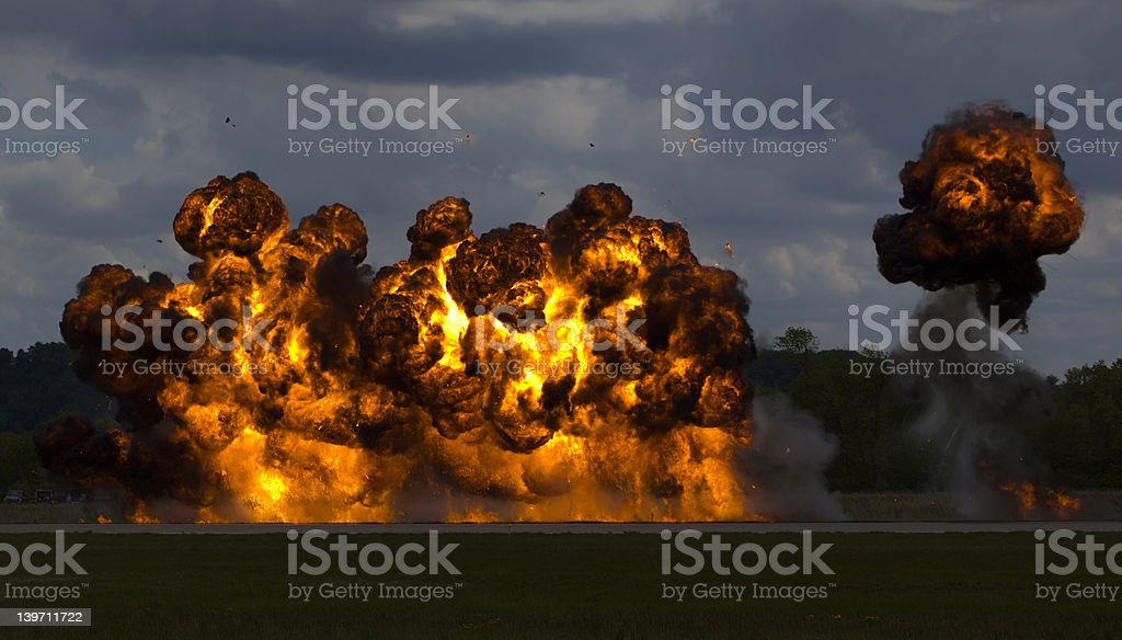 Bombing Run stock photo