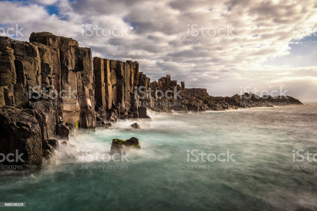 Bombo Headland Quarry at kiama, Australia stock photo