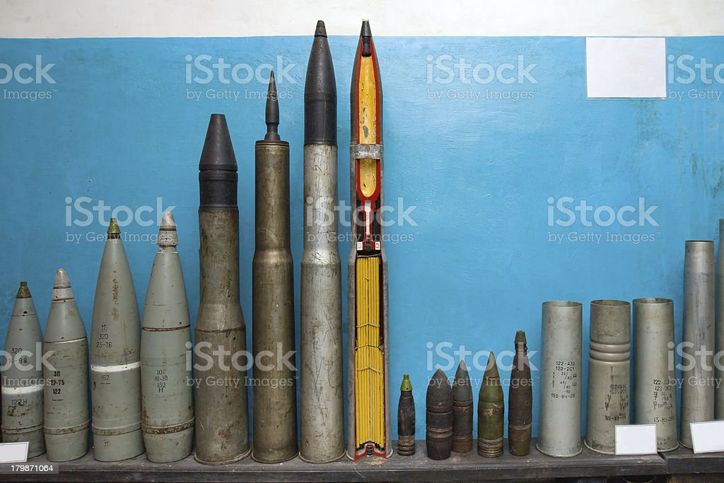 Bombs and torpedoes stock photo