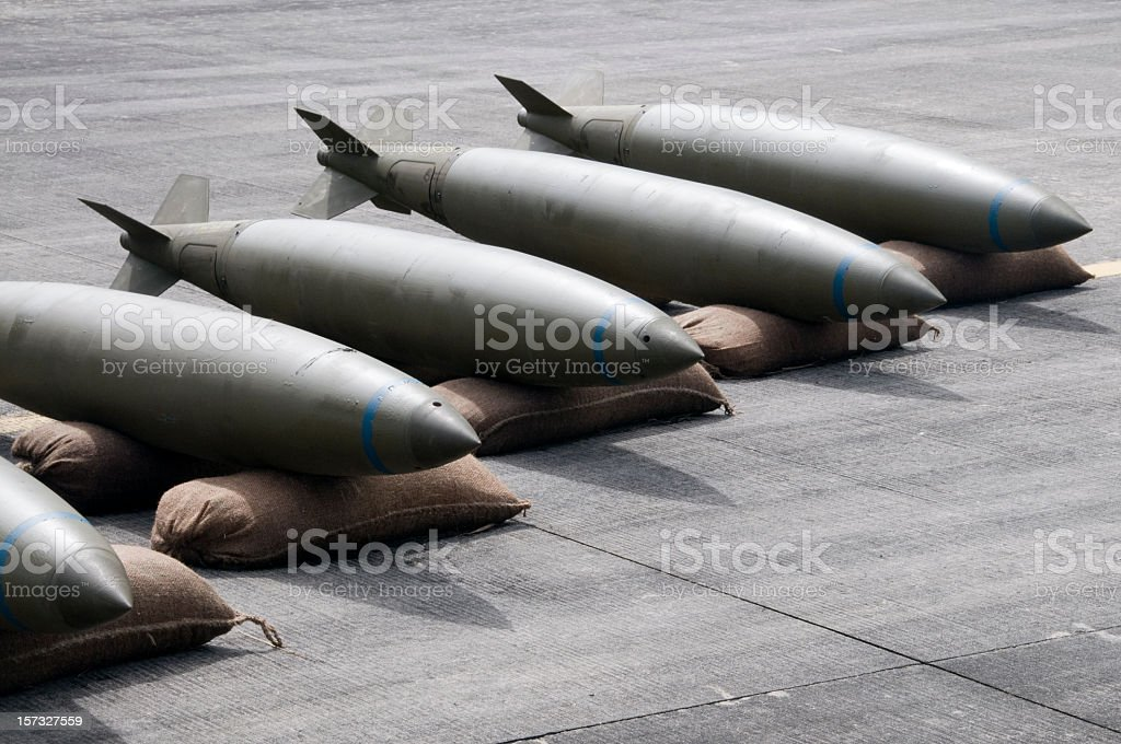 Bombs Lined Up royalty-free stock photo