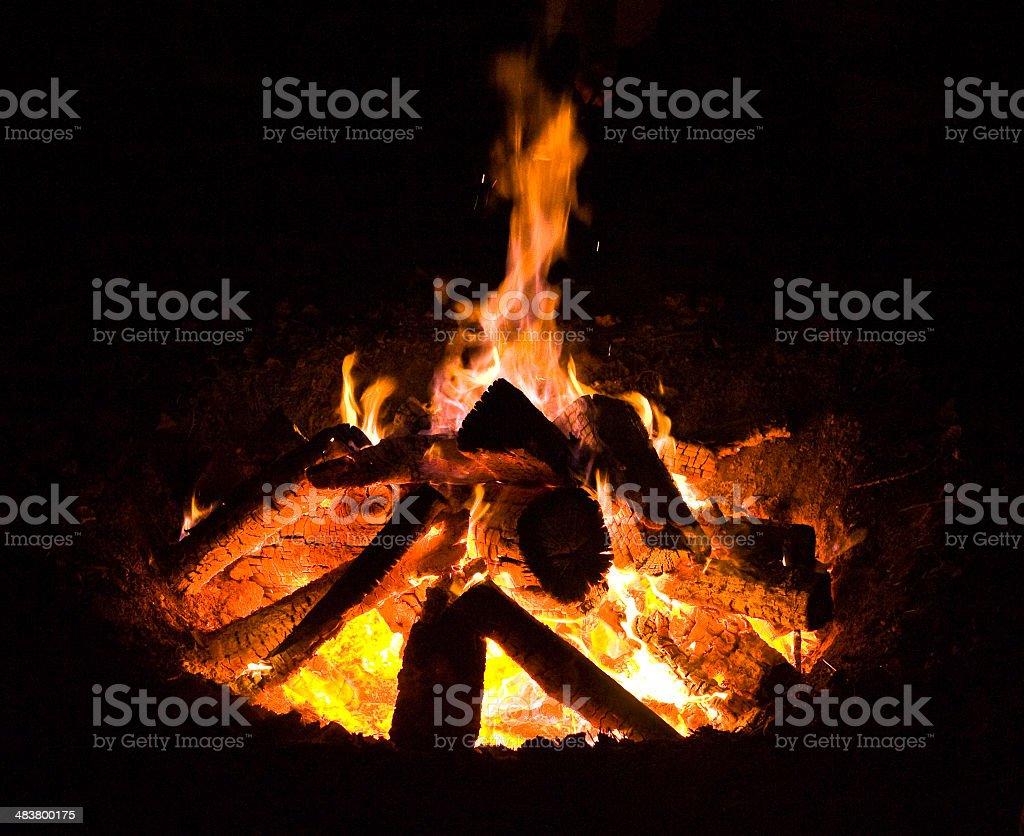 Bon Fire stock photo