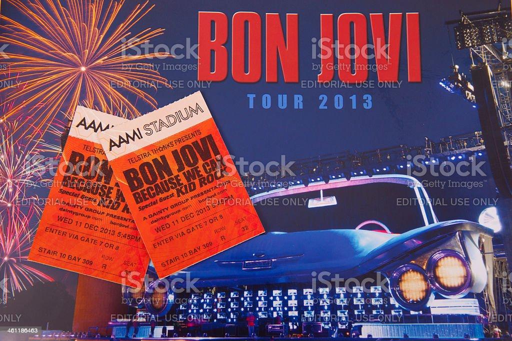 Bon Jovi Concert stock photo