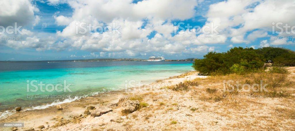 Bonaire coast stock photo