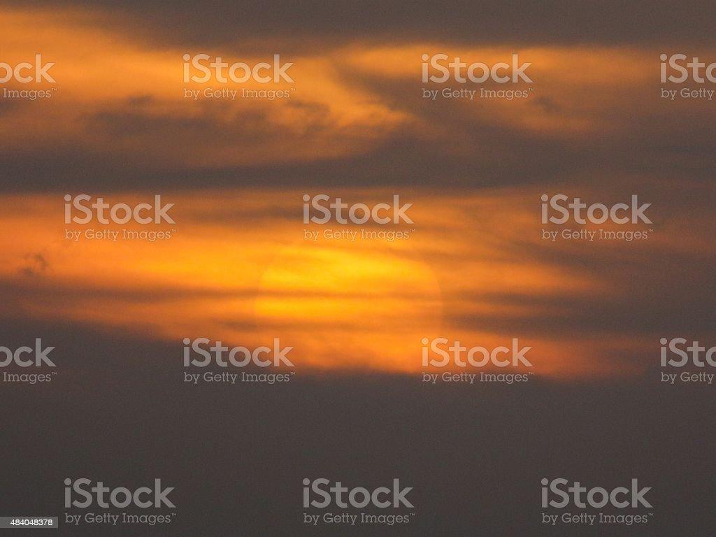 Bonaire sunset stock photo