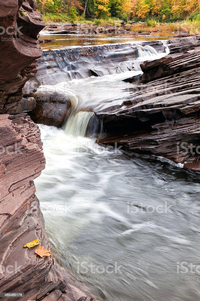 Bonanza Falls in the Upper Peninsula of Michigan stock photo