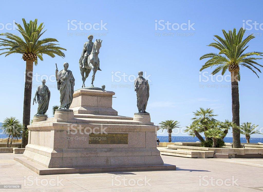 Bonaparte statue in Ajaccio stock photo