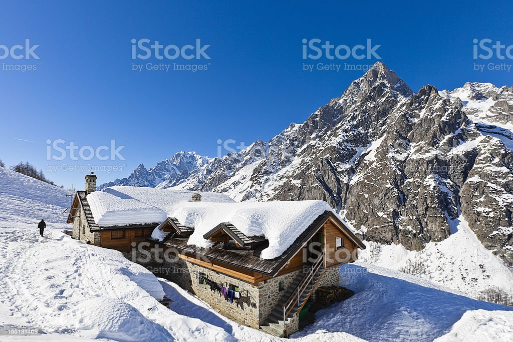 Bonatti Hut royalty-free stock photo