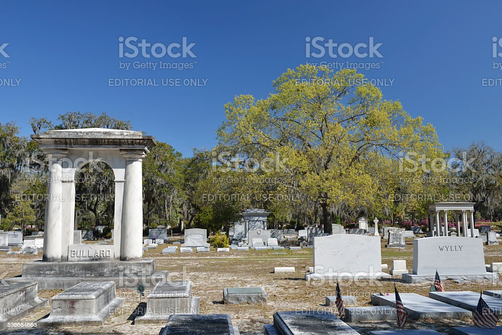 Bonaventure Cemetery in Savannah of Georgia stock photo