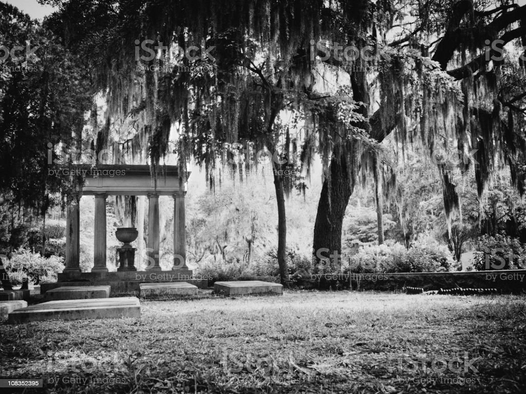Bonaventure Cemetery in savannah stock photo