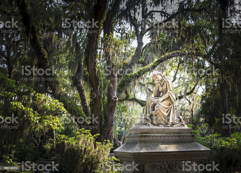 Bonaventure Cemetery Tombstone stock photo