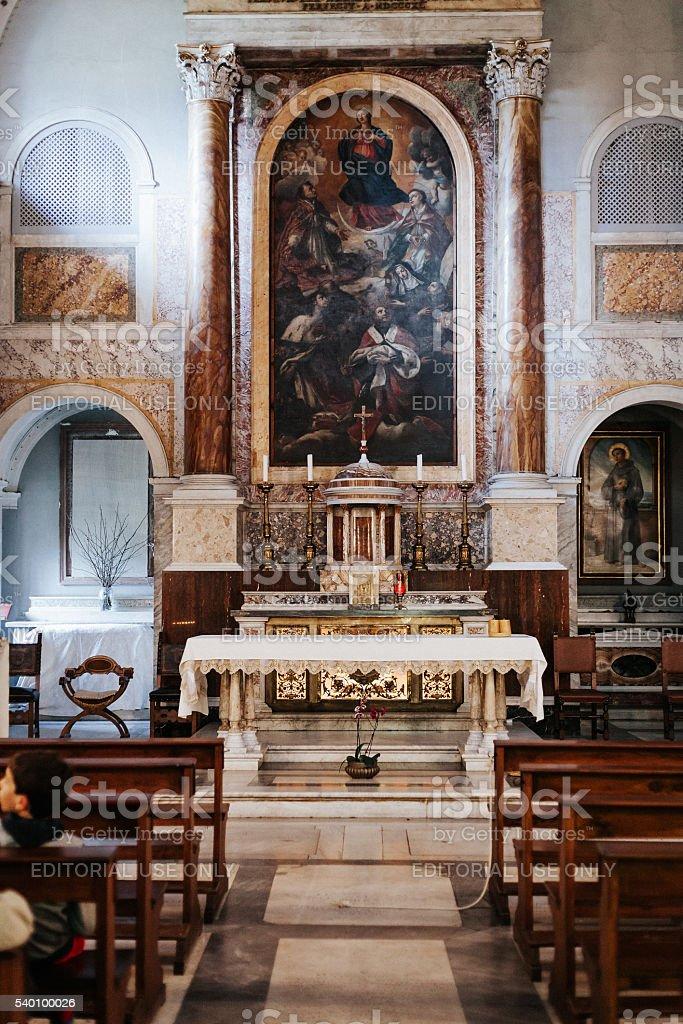 S. Bonaventure Convent interior. stock photo