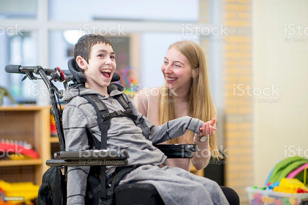 Bond Between Caregiver and Patient stock photo