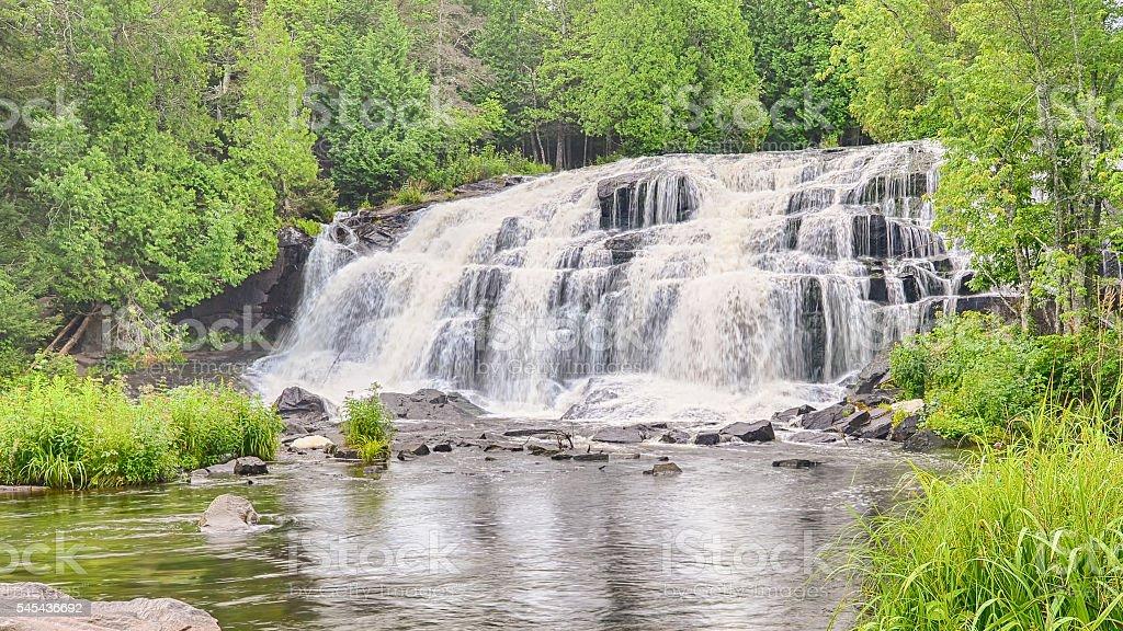 Bond Falls, Middle Branch Ontonagon River, MI stock photo