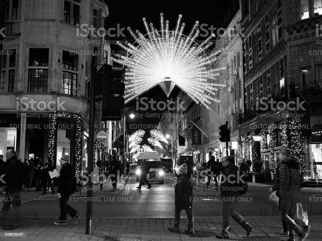 Bond Street at Christmas stock photo