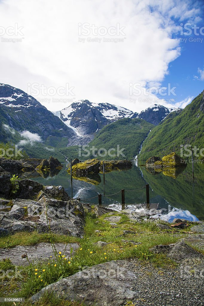 Bondhusvatnet lake, Norway stock photo